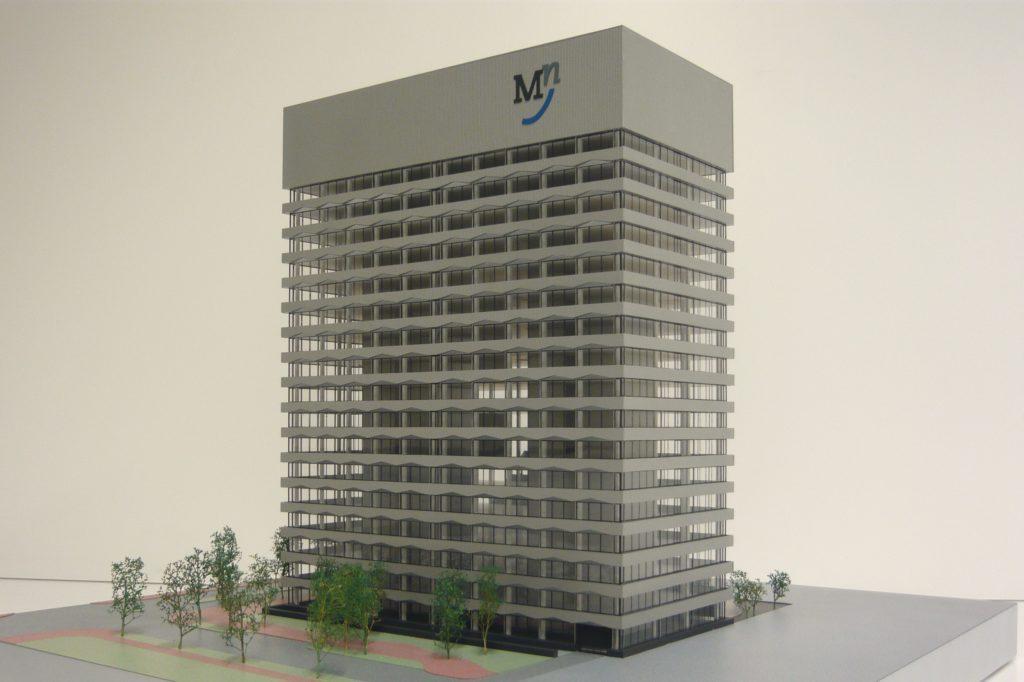 Maquette 1-200 Zilveren Toren Den Haag 01