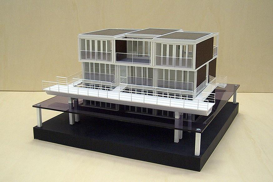 Maquette Waterwoningen IJburg Scale Vision 01