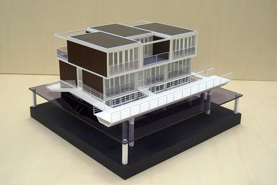 Maquette Waterwoningen IJburg Scale Vision 03