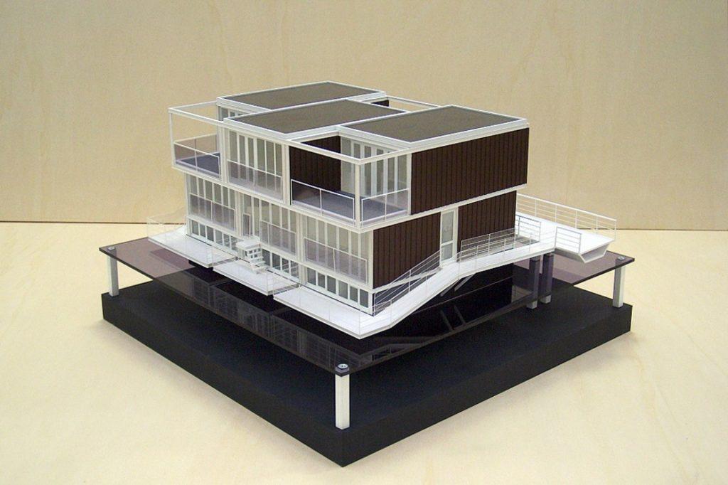 Maquette Waterwoningen IJburg Scale Vision 04